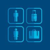 Airport icon theme Royalty Free Stock Photos