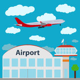 Airport icon, vector illustration. Stock Image