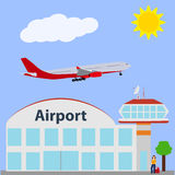 Airport icon, vector illustration. Stock Photo