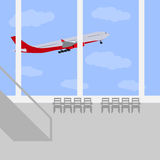 Airport icon, vector illustration. Stock Photography