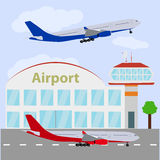 Airport icon, vector illustration. Royalty Free Stock Photos