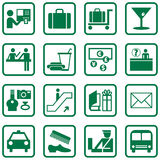 Airport Icons Royalty Free Stock Photos