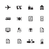Airport icons. Airline icons Royalty Free Stock Photo