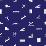 Airport icons blue and white pattern eps10 Stock Images