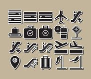 Airport icons collections vector isolated vector illustration