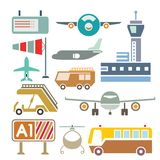 Airport icons Stock Images