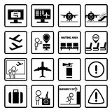 Airport icons design set Stock Images