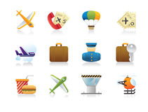 Airport Icons - Detailed Render Stock Image