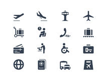Airport icons. Isolated on white stock illustration