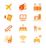 Airport icons | JUICY series Stock Images