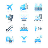 Airport icons | MARINE series Stock Photo