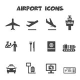 Airport icons Royalty Free Stock Photo