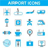 Airport icons Stock Photography
