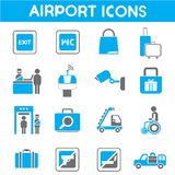 Airport icons Stock Photo