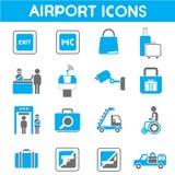 Airport icons Stock Photo