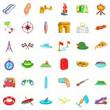 Airport icons set, cartoon style. Airport icons set. Cartoon style of 36 airport vector icons for web isolated on white background Stock Photography