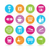 Airport icons Royalty Free Stock Images