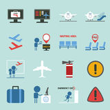 Airport icons set design Royalty Free Stock Photos