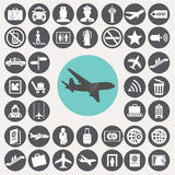 Airport icons set. Royalty Free Stock Photo