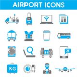 Airport icons Stock Image