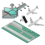 Airport Icons Set Stock Photo