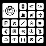 Airport icons set Royalty Free Stock Images