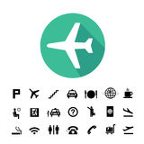 Airport icons set Royalty Free Stock Photography