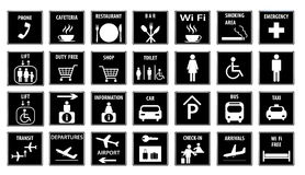 Airport Icons Set.Vector illustration Stock Image