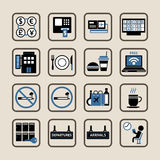 Airport icons set. Stock Photo