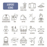 Airport icons. Set of vector pictograms Royalty Free Stock Image