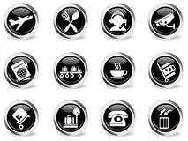 Airport icons set Stock Photography