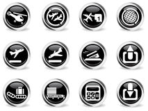 Airport icons set Stock Photo