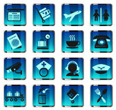 Airport icons Stock Photos