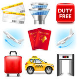 Airport icons vector set Stock Images