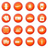 Airport icons vector set Royalty Free Stock Photos