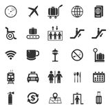 Airport icons on white background. Stock vector Stock Photos