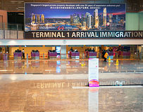 Airport immigration control Royalty Free Stock Photos