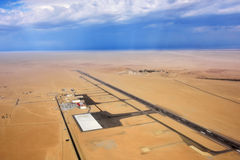 Airport In Namib Desert Stock Photo