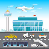 Airport infographic elements. Vector flat design illustration Stock Image