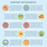 Airport infographic set Royalty Free Stock Images