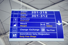 Airport information board. Istanbul, Turkey stock photo