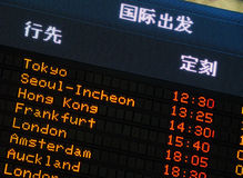 Airport information board Royalty Free Stock Photos
