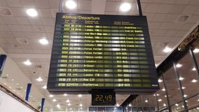 Airport information board Royalty Free Stock Photography