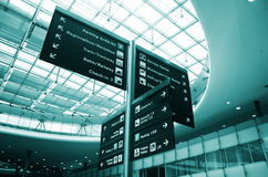 Airport information board Stock Photos
