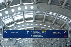 Airport Information Boards Royalty Free Stock Photo