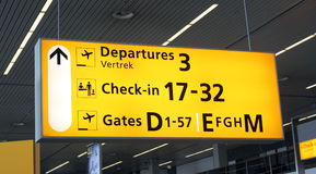 Airport information sign Royalty Free Stock Photography