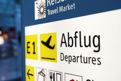 Airport information sign Stock Images