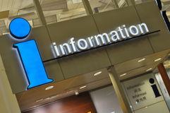 Airport information signs Royalty Free Stock Photography