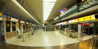 Airport in Innsbruck - Check in Royalty Free Stock Photos