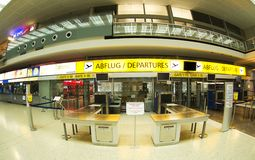 Airport in Innsbruck - Check in Royalty Free Stock Image